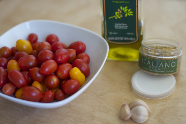 ingredients for roasted cherry tomatoes